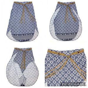 Maxi, wrap style, slits on both sides, tassel belt